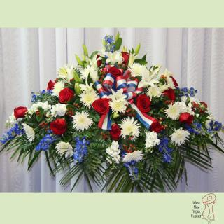 Red, White And Blue Casket