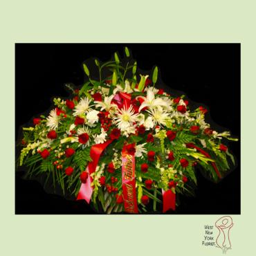 Lilies and Roses Casket