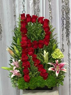 Letter R In Roses