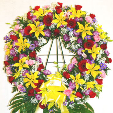 Sympathy Sentiment Wreath