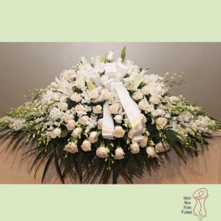 Heavenly White Lily Casket